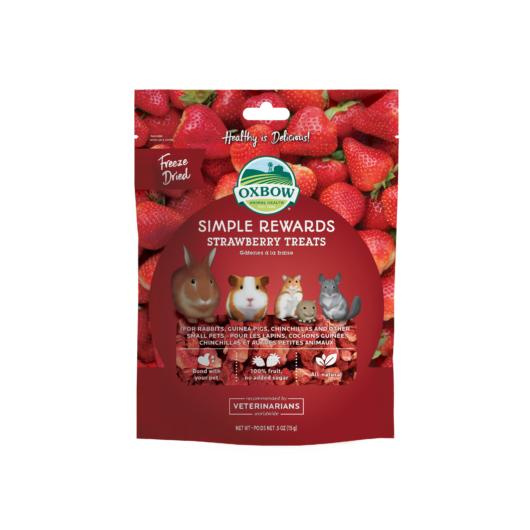 Oxbow Strawberry Treats epres jutalomfalat