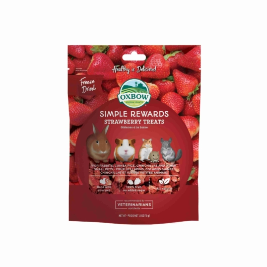 Oxbow Strawberry Treats epres jutalomfalat